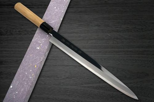 Sakai Takayuki Aoniko Blue 2 Steel Mirror Finish Japanese Chefs YanagibaSashimi 360mm