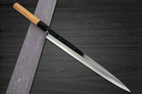 Sakai Takayuki Aoniko Blue 2 Steel Mirror Finish Japanese Chefs FuguhikiSashimi 330mm