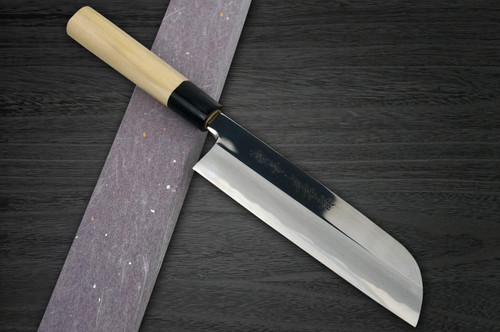 Sakai Takayuki Aoniko Blue 2 Steel Mirror Finish Japanese Chefs Kamagata-UsubaVegetable 225mm