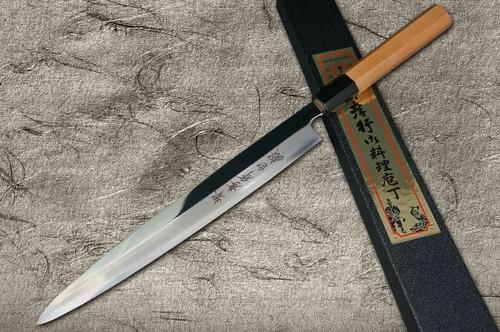 Left Handed Sakai Takayuki Hakugin INOX Mirror Finish Japanese Chefs YanagibaSashimi 300mm