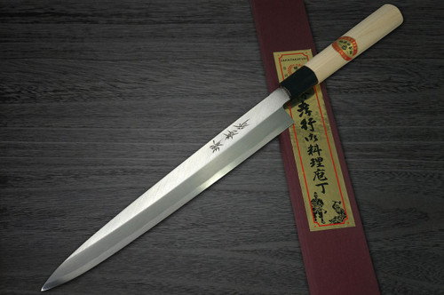 Left Handed Sakai Takayuki Kasumitogi White steel Japanese Chefs FuguhikiSashimi 240mm