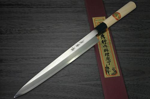 Left Handed Sakai Takayuki Kasumitogi White steel Japanese Chefs FuguhikiSashimi 300mm