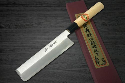 Left Handed Sakai Takayuki Kasumitogi White steel Japanese Chefs UsubaVegetable 150mm