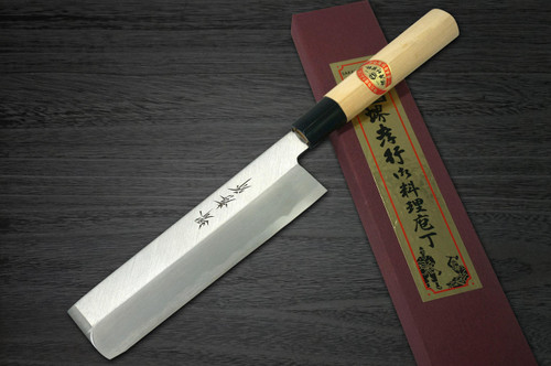 Left Handed Sakai Takayuki Kasumitogi White steel Japanese Chefs UsubaVegetable 195mm