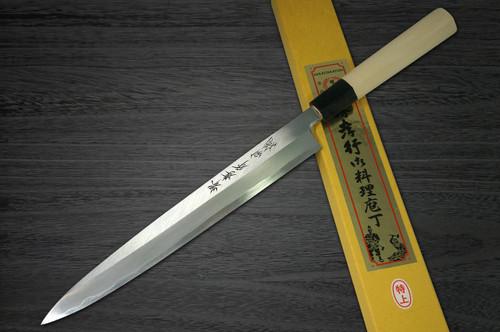 Left Handed Sakai Takayuki Tokujyo Supreme White 2 steel Japanese Chefs YanagibaSashimi 180mm