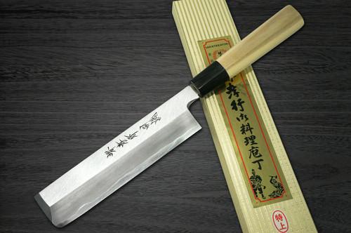 Left Handed Sakai Takayuki Tokujyo Supreme White 2 steel Japanese Chefs UsubaVegetable 225mm