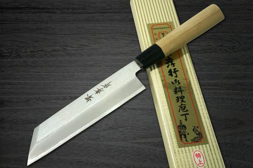 Left Handed Sakai Takayuki Tokujyo Supreme White 2 steel Japanese Chefs Peeling Knife 180mm