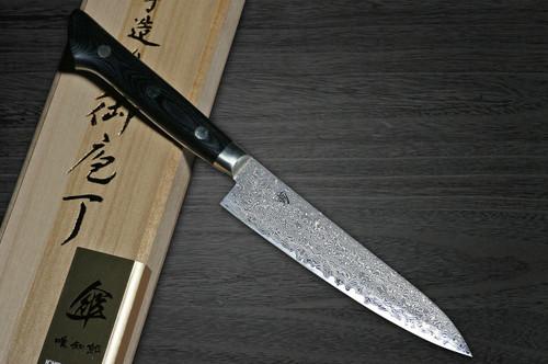 Hattori KD30 COWRY-X 121 Layered Damascus SAN Japanese Chefs Petty KnifeUtility 135mm 80year-anniv version