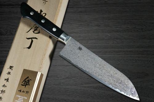 Hattori KD30 COWRY-X 121 Layered Damascus SAN Japanese Chefs Santoku Knife 180mm 80year-anniv version