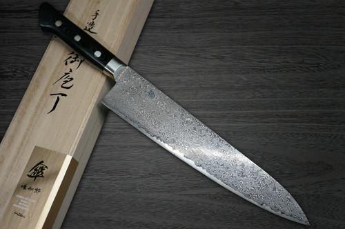 Hattori KD30 COWRY-X 121 Layered Damascus SAN Japanese Chefs Gyuto Knife 240mm 80year-anniv version