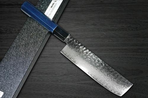 Sakai Takayuki 33-Layer VG10 Damascus Indigo Japan-Blue Chefs NakiriVegetable 160mm