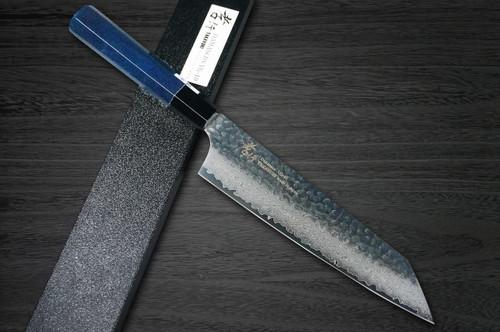 Sakai Takayuki 33-Layer VG10 Damascus Indigo Japan-Blue Chefs Kengata-Gyuto Knife 190mm