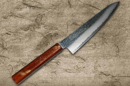 Sakai Takayuki 33-Layer VG10 Damascus Urushi Chefs Gyuto Knife 210mm with Japanese Lacquered Oak Handle SEIREN