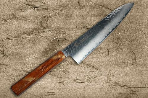 Sakai Takayuki 33-Layer VG10 Damascus Urushi Chefs Gyuto Knife 240mm with Japanese Lacquered Oak Handle SEIREN