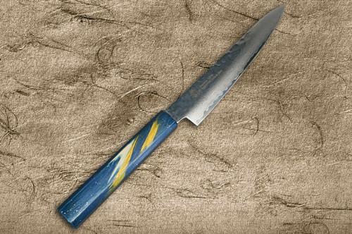 Sakai Takayuki 33-Layer VG10 Damascus Urushi Chefs Petty KnifeUtility 150mm with Japanese Lacquered Oak Handle SAISEKI
