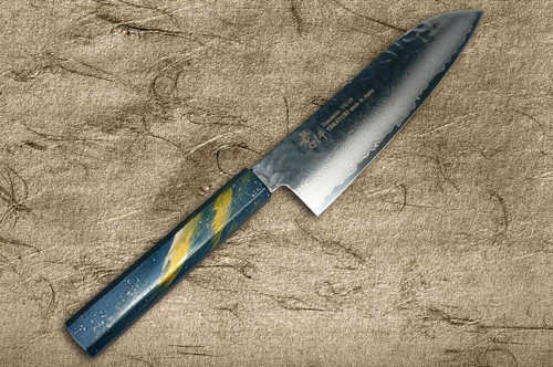 Sakai Takayuki 33-Layer VG10 Damascus Urushi Chefs Santoku Knife 170mm with Japanese Lacquered Oak Handle SAISEKI