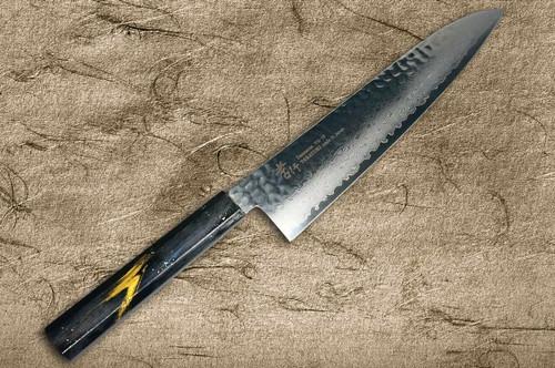 Sakai Takayuki 33-Layer VG10 Damascus Urushi Chefs Gyuto Knife 240mm with Japanese Lacquered Oak Handle SAISEKI