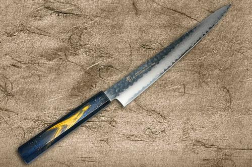 Sakai Takayuki 33-Layer VG10 Damascus Urushi Chefs SlicerSujihiki 240mm with Japanese Lacquered Oak Handle SAISEKI