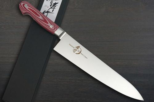 Sakai Takayuki Grand Chef Micarta Handle Japanese Chefs Gyuto Knife 210mm Red