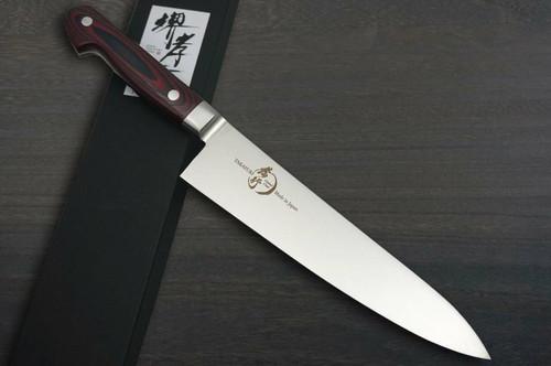 Sakai Takayuki Grand Chef Micarta Handle Japanese Chefs Gyuto Knife 210mm Wine