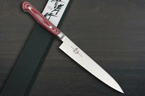 Sakai Takayuki Grand Chef Micarta Handle Japanese Chefs Petty KnifeUtility 150mm Red