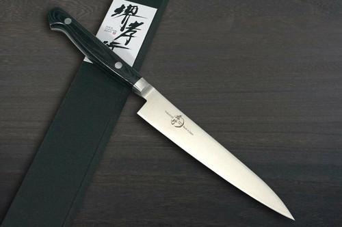 Sakai Takayuki Grand Chef Micarta Handle Japanese Chefs Petty KnifeUtility 150mm Black