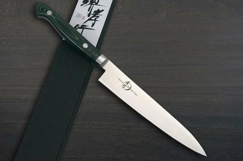 Sakai Takayuki Grand Chef Micarta Handle Japanese Chefs Petty KnifeUtility 150mm Green