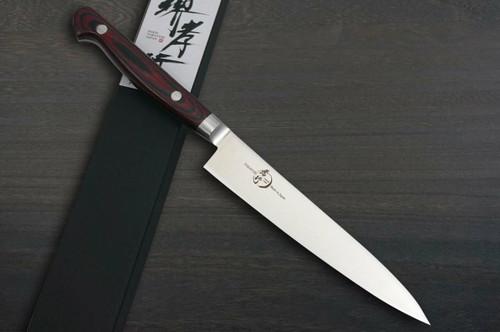 Sakai Takayuki Grand Chef Micarta Handle Japanese Chefs Petty KnifeUtility 150mm Wine