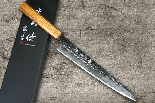Yu Kurosaki R2SG2 Hammered SENKO WA OK8M Japanese Chefs SlicerSujihiki 240mm with Urushi Lacquered Oak Handle