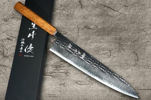 Yu Kurosaki R2SG2 Hammered SENKO WA OK8M Japanese Chefs Gyuto Knife 270mm with Urushi Lacquered Oak Handle