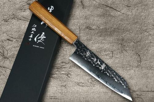 Yu Kurosaki R2SG2 Hammered SENKO WA OK8M Japanese Chefs Bunka Knife 165mm with Urushi Lacquered Oak Handle