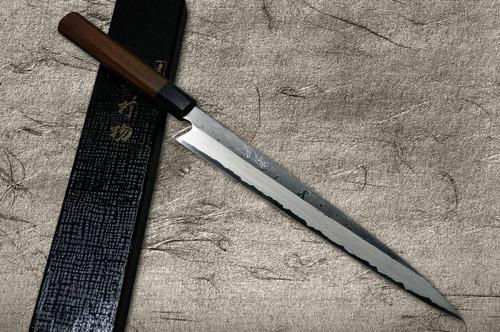 Takayuki Iwai Aogami No.2 Damascus FUMON RS Japanese Chefs YanagibaSashimi 300mm
