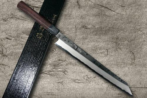 Takayuki Iwai Aogami No.2 Damascus FUMON RS Japanese Chefs Kiritsuke-YanagibaSashimi 270mm