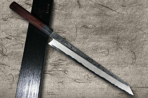 Takayuki Iwai Aogami No.2 Damascus FUMON RS Japanese Chefs Kiritsuke-YanagibaSashimi 300mm
