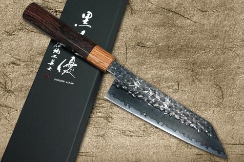 Yu Kurosaki R2SG2 Hammered SENKO WA RS8H Japanese Chefs Bunka Knife 165mm with Brown-Ring Octagonal Handle