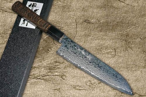 Sakai Takayuki GINGA ZA-18 69-Layer Damascus Japanese Chefs Santoku Knife 180mm