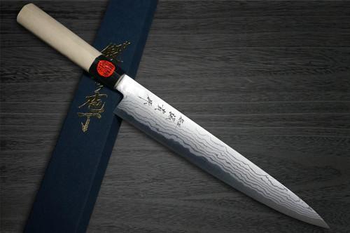 Shigeki Tanaka Aogami No.2 Damascus MB Japanese Chefs SlicerSujihiki 270mm with Magnolia Wood Handle