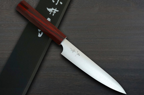 Kei Kobayashi R2 Special Finished CS Japanese Chefs Petty KnifeUtility 150mm with Red Lacquered Wood Handle