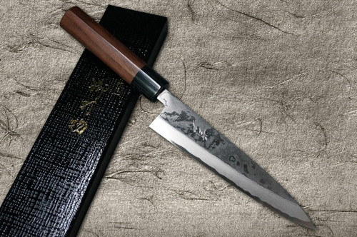 Takayuki Iwai Shirogami No.1 Damascus FUMON RS Japanese Chefs Mioroshi Deba 210mm