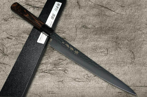 Sakai Takayuki Non-Stick Coating VG10 Hammered WA KUROKAGE Japanese Chefs SlicerSujihiki 240mm with Wenge Handle