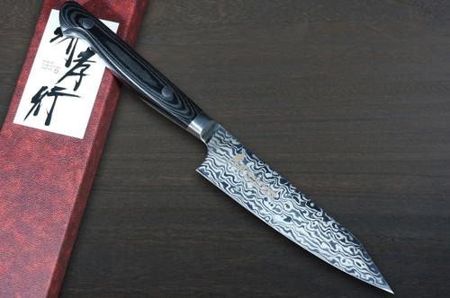 Sakai Takayuki VG10-VG2 Coreless Damascus Japanese Chefs Kengata-Petty KnifeUtility 120mm