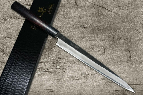 Takayuki Iwai Aogami No.2 Kurouchi RS Japanese Chefs YanagibaSashimi 210mm