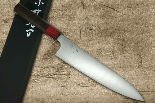 Kei Kobayashi R2 Special Finished RS8R Japanese Chefs Gyuto Knife 210mm with Red-Ring Octagonal Handle