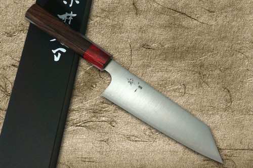 Kei Kobayashi R2 Special Finished RS8R Japanese Chefs Bunka Knife 170mm with Red-Ring Octagonal Handle