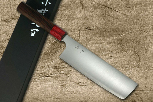 Kei Kobayashi R2 Special Finished RS8R Japanese Chefs NakiriVegetable 165mm with Red-Ring Octagonal Handle