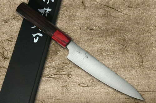 Kei Kobayashi R2 Special Finished RS8R Japanese Chefs Petty KnifeUtility 150mm with Red-Ring Octagonal Handle