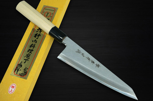 Sakai Takayuki Tokujyo Supreme White 2 steel Japanese Chefs Wa-GarasukiBoning 180mm