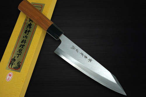 Sakai Takayuki Tokujyo Supreme White 2 steel Japanese Chefs Kiritsuke Deba 150mm with Japanese Yew Handle