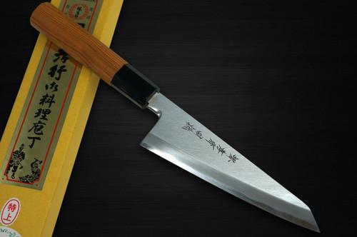 Sakai Takayuki Tokujyo Supreme White 2 steel Japanese Chefs Wa-HonesukiBoning 150mm with Japanese Yew Handle