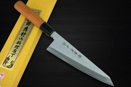 Sakai Takayuki Tokujyo Supreme White 2 steel Japanese Chefs Wa-GarasukiBoning 180mm with Japanese Yew Handle